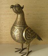 Old Islamic Bronze Bird Incense Burner With Calligraphy - Art Asiatique