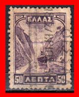 GRECIA – GREECE  1 SELLO 1927 – CORINTH CANAL - Usados