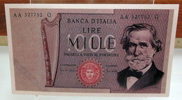 MINI BANCONOTA FAC-SIMILE MILLE LIRE 1969 - Fictifs & Spécimens