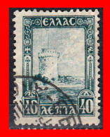 GRECIA – GREECE  1 SELLO 1927 – WHITE TOWER OF SALONIKA - Usados