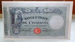 MINI BANCONOTA FAC-SIMILE LIRE CINQUANTA1893 - Specimen