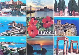 GREECE : COLOUR PICTURE POST CARD : COMMERCIALLY SENT TO GERMANY : RHODES, BIRTH PLACE CANCELLATION - Greece