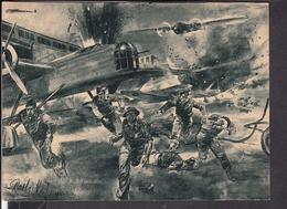 """Postkarte Überraschender Angriff Deutscher Kampfflugzeuge .... , Luftwaffen - Illustrierte """" Der Adler """" - Briefe U. Dokumente"""