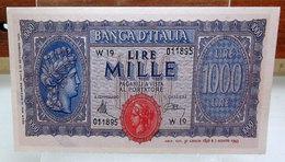 MINI BANCONOTA FAC-SIMILE LIRE MILLE 1944 - Fictifs & Spécimens