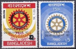 Bangladesch Bangladesh 1987 Entwicklung Developement Organisationen Wohlfahrt Welfare Rotary Zahnrad, Mi. 255-6 ** - Bangladesch