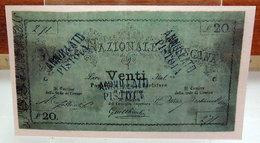 MINI BANCONOTA FAC-SIMILE LIRE VENTI BANCA NAZIONALE TOSCANA - Specimen