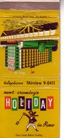 Matchbook Cover ! The Holiday Hotel & Casino, Reno, Nevada, U.S.A.  ! 1960 Winter Olympics ! - Matchboxes