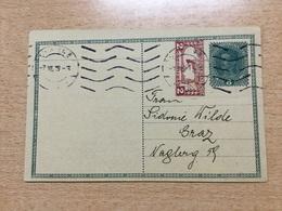 K6 Österreich Ganzsache Stationery Entier Postal Privatpostkarte Von Wien Nach Graz - Stamped Stationery