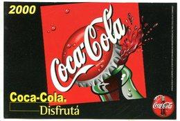 COCA COLA 2000 DISFRUTA BEBIDA ARGENTINA POSTAL PUBLICIDAD - LILHU - Reclame