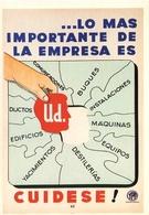 """CUIDESE!  """"LA SEGURIDAD Y LOS TRABAJADORES"""" MUESTRA FUNDACION YPF 2013 ARGENTINA POSTAL PUBLICIDAD - LILHU - Syndicats"""