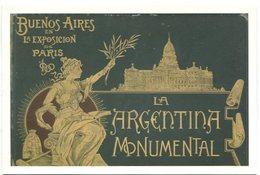 LA ARGENTINA MONUMENTAL: BUENOS AIRES EN LA EXPOSICION DE PARIS BANCO CENTRAL ARGENTINA POSTAL PUBLICIDAD - LILHU - Banken