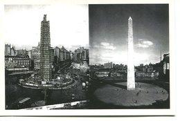OBELISCO IMAGENES DE BUENOS AIRES 1915 19410 BANCO CENTRAL ARGENTINA POSTAL PUBLICIDAD - LILHU - Monumenten