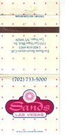 Matchbook Cover !  Sands Hotel & Casino, Las Vegas, Nevada , U.S.A. ! - Matchboxes