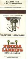 Matchbook Cover ! Nevada Landing Hotel & Casino, Jean, Nevada , U.S.A. ! - Matchboxes