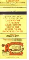 Matchbook Cover ! Riverside Resort Hotel & Casino, Laughlin, Nevada , U.S.A. ! - Matchboxes