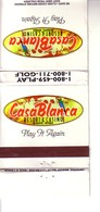 Matchbook Cover ! Casa Blanca Resort Hotel & Casino, Mesquite, Nevada , U.S.A. ! - Matchboxes