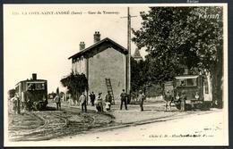 Reproduction Ancienne D'une CPA - La Côte-Saint-André - Gare Du Tramway TDI - Voir 2 Scans - La Côte-Saint-André