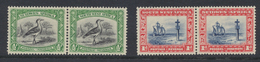 South West Africa - Sud Ouest Africain 1931 Série Courante 1/2p+1/2p Et 1p+1p Se Tenant *MH - South West Africa (1923-1990)