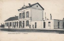 Nieuport - Bain , Nieuwport ,  Station, ( Intérieur De La Gare , Statie,train ) - Nieuwpoort