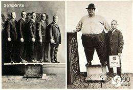 FOTOGRAFIA HOMBRE OBESO GORDO SAMSONITE 100 YEARS STRONG ARGENTINA POSTAL PUBLICIDAD - LILHU - Health