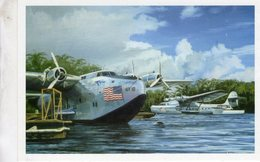 Boeing 314 Pacific Clipper  -  Canton Island 1941    -  Art Carte Par Benjamin Freudenthal - 1939-1945: 2nd War