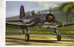 Decollage D'un Corsair FAU-1D  -  1943    -  Art Carte Par Benjamin Freudenthal - 1939-1945: 2ème Guerre