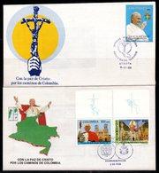 COLOMBIA- KOLUMBIEN - 1986. FDC/SPD. POPE JHON PAULUS II - Kolumbien