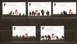 Gibraltar 2016 Micheln°  1730-1734 *** MNH Centenaire Bataille De La Somme - Gibraltar