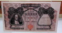 MINI BANCONOTA FAC-SIMILE LIRE MILLE BANCO NAPOLI - Fictifs & Spécimens