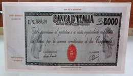 MINI BANCONOTA FAC-SIMILE LIRE 5.000 1945 - Specimen
