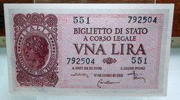 MINI BANCONOTA FAC-SIMILE UNA LIRA 1944 - Specimen