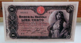MINI BANCONOTA FAC-SIMILE CENTO LIRE BANCO DI NAPOLI - Fictifs & Spécimens