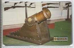 LSJP BRAZIL PHONECARD (2) ARSENAL OF WAR CANNON  - TELERJ - Brésil