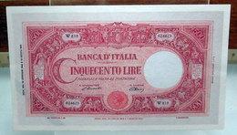 MINI BANCONOTA FAC-SIMILE CINQUECENTO LIRE 1943 - Specimen