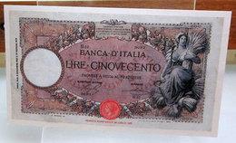 MINI BANCONOTA FAC-SIMILE CINQUECENTO LIRE 1919 - Fictifs & Spécimens