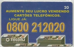 LSJP BRAZIL PHONECARD INCREASE YOUR PROFIT BY SELLING GREETING CARDS - TELERJ - Brésil