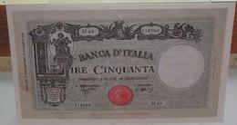 MINI BANCONOTA FAC-SIMILE LIRE CINQUANTA 1943 - Specimen