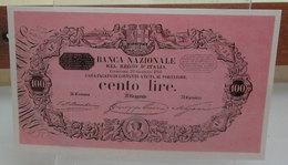 MINI BANCONOTA FAC-SIMILE LIRE CENTO REGNO D'ITALIA - Fictifs & Spécimens