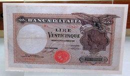 MINI BANCONOTA FAC-SIMILE LIRE VENTICINQUE - Fictifs & Spécimens