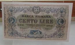 MINI BANCONOTA FAC-SIMILE LIRE CENTO BANCA ROMANA - Fictifs & Spécimens