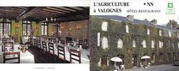 50 - VALOGNES - Hotel De L'Agriculture. Années 1990 - Visiting Cards