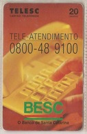 LSJP BRAZIL PHONECARD BESC BANK OF SANTA CATARINA - TELESC - Brésil