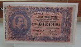 MINI BANCONOTA FAC-SIMILE LIRE DIECI BIGLIETTO DI STATO 1888 - Fictifs & Spécimens
