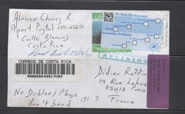 Registered Cover Costa Rica To France 2010 Returned, Great Item - Costa Rica