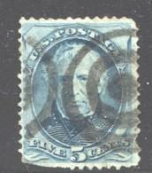 1879  Zachary Taylor 5¢ Target Cancel Sc 185  Defective - Usati