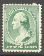 1893  Washington 2¢ Green  Sc 213 MH - 1847-99 General Issues