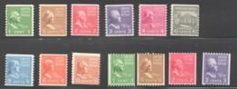 1939  Prexie Coils Complete Sets  MNH Except 843,850 MH - Neufs