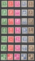 1940  Famous Americans 7 Complete Sets  Sc 859-893  MNH Except 873 Used - United States