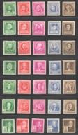 1940  Famous Americans 7 Complete Sets  Sc 859-893  MNH Except 873 Used - Etats-Unis