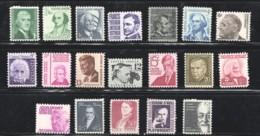 1965-78 Prominent Americans Sc 1278-1295  MNH - Etats-Unis